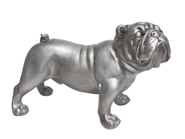 Antique silver Bulldog